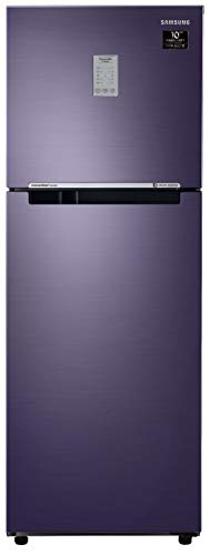 Samsung 253L 2 Star Inverter Frost Free Double Door Refrigerator (RT28T3782UT/HL, Pebble Blue,...