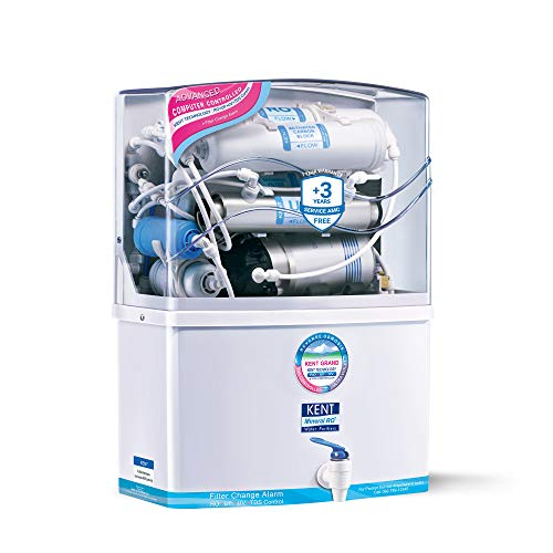 KENT Grand 8-Litres Wall-Mountable RO + UV/UF + TDS Controller (White) 15 litre/hr Water Purifier