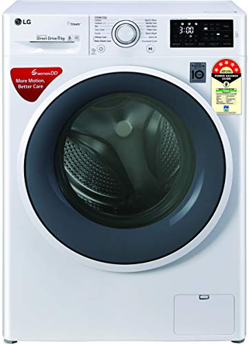 LG 8 Kg Inverter Fully-Automatic Front Loading Washing Machine (FHT1208ZNW, White)