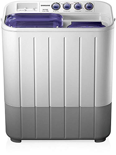 Samsung 7.2 kg Semi-Automatic Top Loading Washing Machine (WT725QPNDMPXTL, White and Blue, Center...