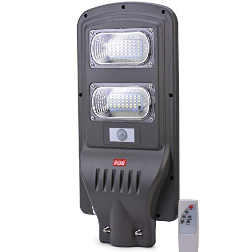 FOS Solar LED Street Light 40W - All-in-ONE, Cool White 6500k (IP65 Water-Proof) with Remote Control...